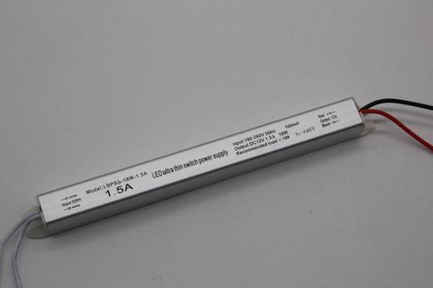 Блок питания 18Вт, 12В, 1,5А, IP23 Super Slim
