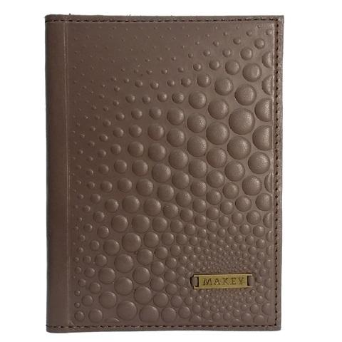 Обложка на паспорт «Bubbles». Цвет мокко