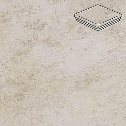 Stroeher - Keraplatte Asar 620 sass 345x345x12 артикул 9331 - Угловая клинкерная ступень - флорентинер