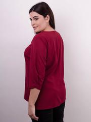 Леона. Оригінальна блуза size plus. Бордо.