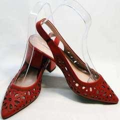 Красные туфли с открытой пяткой женские G.U.E.R.O G067-TN Red.