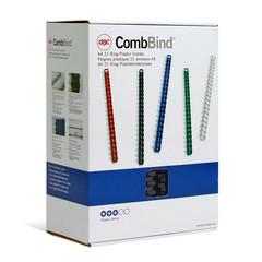 Пружины для переплета пластиковые GBC 38 мм черные (50 штук в упаковке)