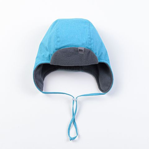Hat with earflaps - Turquoise