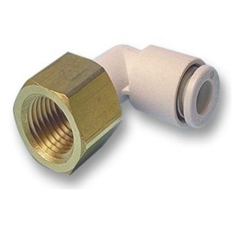 KQ2LF10-04A  Угловое быстроразъемное соединение