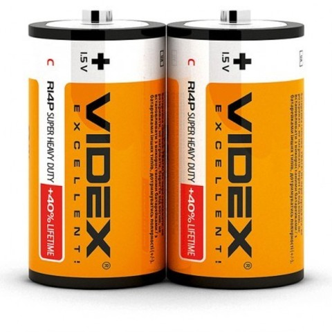 Батарейки Videx R14, C (2/24)