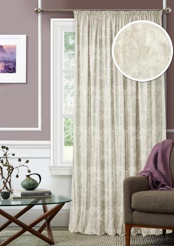 Готовая штора Бархат с подхватом серый
