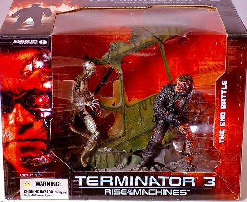 Терминатор 3 Восстание машин диорама T-850 против T-X