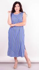 Мохіто. Оригінальна сукня плюс сайз. Смуга.