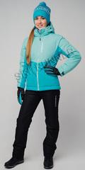 Женский утеплённый прогулочный лыжный костюм Nordski Montana Sky-Aquamarine