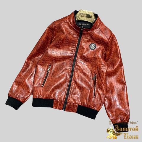 Куртка экокожа мальчику (8-15) 210328-К-74030