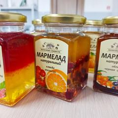 Натуральный мармелад «Апельсин + Клюква» / 250 мл
