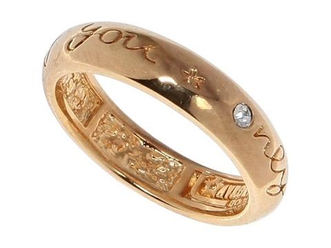 Кольцо с позолотой Селебрити