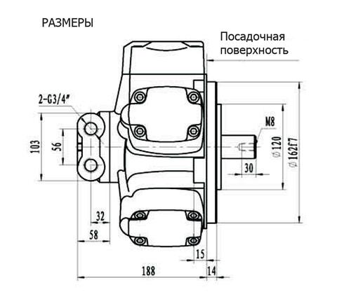 Гидромотор IPM2-150