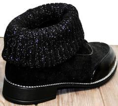 Туфли женские со шнурками +на низком каблуке Kluchini 5161 k255 Black