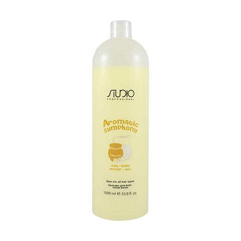 Бальзам для всех типов волос Молоко и Мед 1000 мл. Kapous Studio