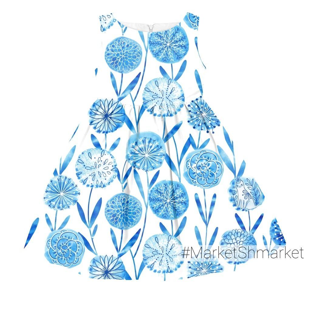 Акварельные цветы одуванчики и не только