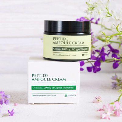 Интенсивно восстанавливающий крем c пептидами Mizon Peptide Ampoule Cream