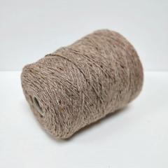 Пряжа Кашемир 100%, Cariaggi, Moss, Твидовый светло-коричневый меланж, 2/3.5, 175 м в 100 г