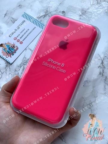 Чехол iPhone 7/8 Silicone Case Full /electric pink/ ярко-розовый