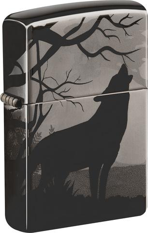 Зажигалка с волками Black Ice® ZIPPO 49188