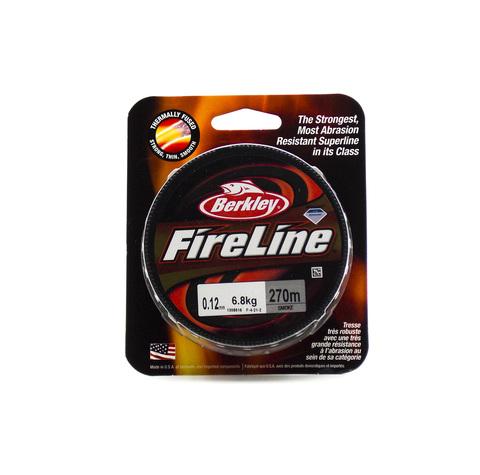 Плетеная леска Berkley Fireline Темно-серая 270 м. 0,12 мм. 6,8 кг. Smoke (1308616)