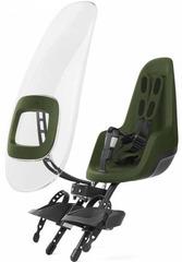 Переднее велокресло с ветровым стеклом Bobike ONE mini Olive Green - 2