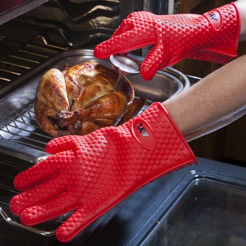 Термостойкие силиконовые перчатки Hot Hands - 2 шт