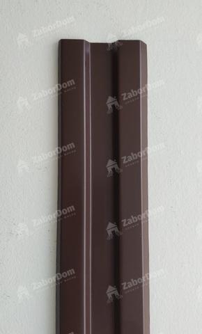 Евроштакетник металлический 80 мм RAL 8017 W-образный 0.45 мм