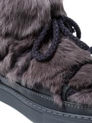 Высокие комбинированные кеды INUIKII Sneaker Rabbit Grey на меху