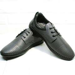 Мужские туфли мокасины кожа Ridge Z-430 75-80Gray