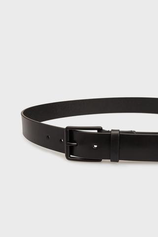 Мужской черный кожаный ремень ROLLER BUCKLE Tommy Hilfiger