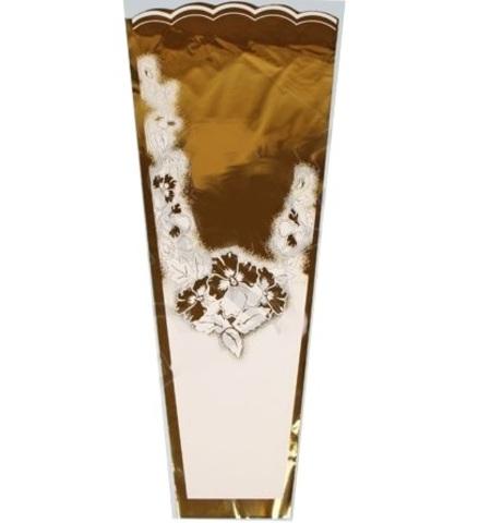 Конус Супер цветной/мет/рис 36/80 (упаковка-50 шт.) Цвет:золото