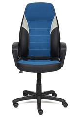 Кресло компьютерное Интер (Inter) — черный/синий/серый (36-6/С24/14)