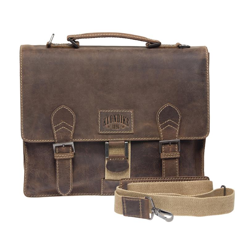 Кожаный портфель Klondike 1896 Native Brown KD1132-03, Германия