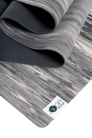 Каучуковый коврик для йоги  JOY Yoga Comfort  183*66*0,4 см, серый мрамор