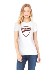 Футболка с принтом Ducati (Дукати) белая w0012