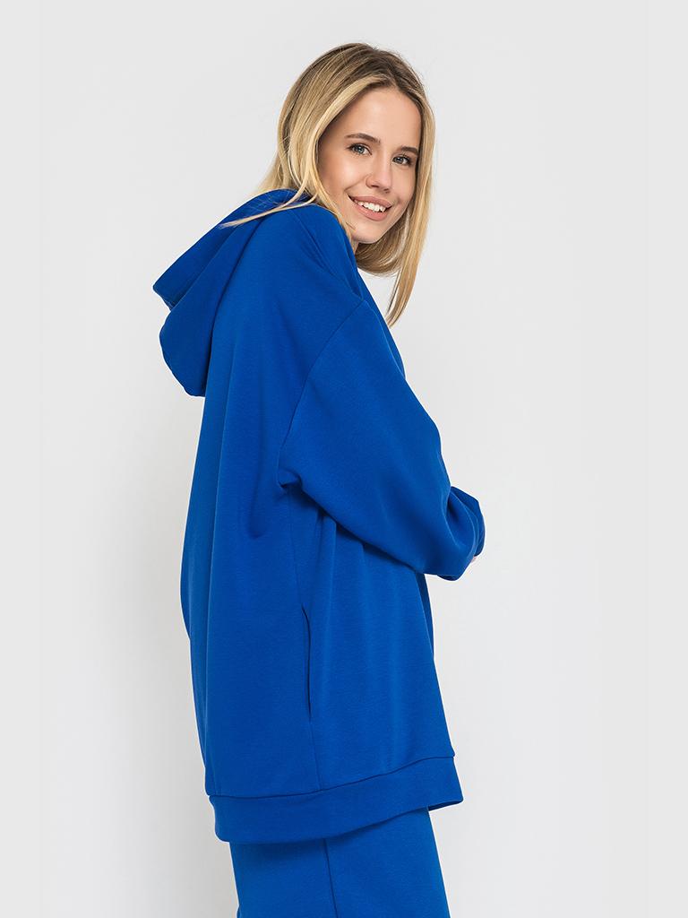 Худи трикотажное синее YOS от украинского бренда Your Own Style