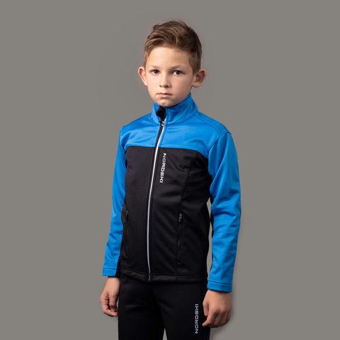 Разминочная куртка Nordski Jr.Active Blue/Black подростковая