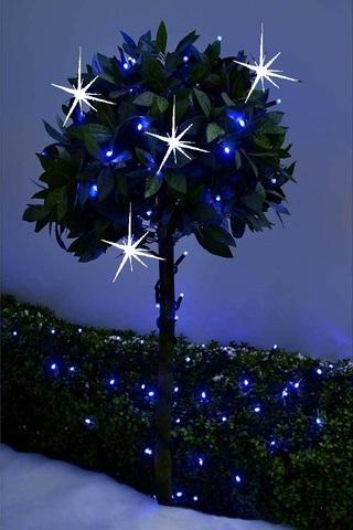 Гирлянда на деревья купит в Киеве оптом с мерцанием холодный белый цвет свет свечение ЛЕД LED string