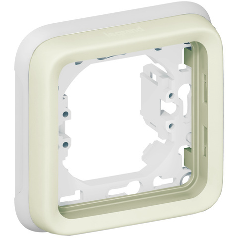 Рамка на 1 пост с суппортом для встроенного монтажа. Цвет Белый. Legrand Plexo (Легранд Плексо). 069692