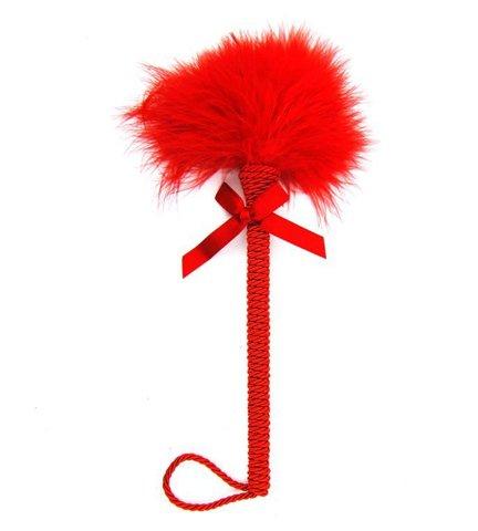 Перьевая палочка для ласк (красная) 30 см.