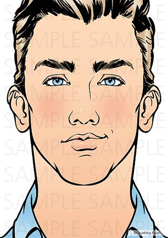 Планшет для эскизов взрослое лицо Дэвид