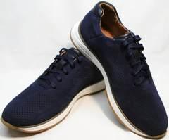 Темно синие кроссовки мужские летние Faber 1957134-7 Blue