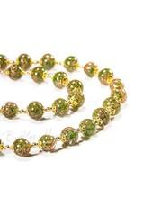 Зеленое классическое ожерелье из муранского стекла с небольшими бусинами недорогое