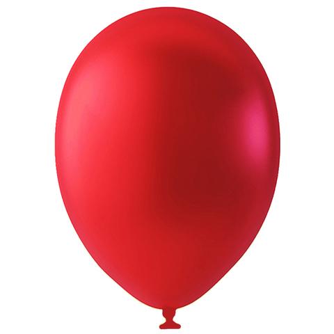 Шар Красный Металлик, 30 см