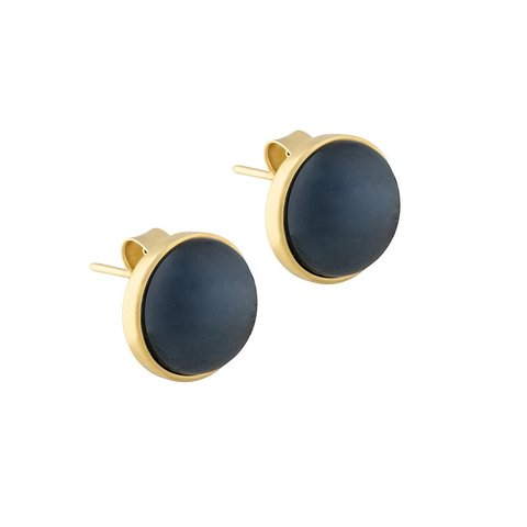 Пусеты Pearl Black Agate A1992.4 BW/G