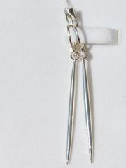 Игла (серьги из серебра)