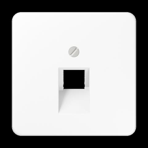 Накладка одинарной наклонной tel/comp розетки. Цвет Белый. JUNG CD. CD569-1UAWW