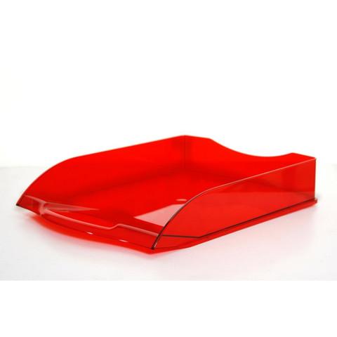 Лоток для бумаг горизонтальный Attache Яркий Офис тонированный красный