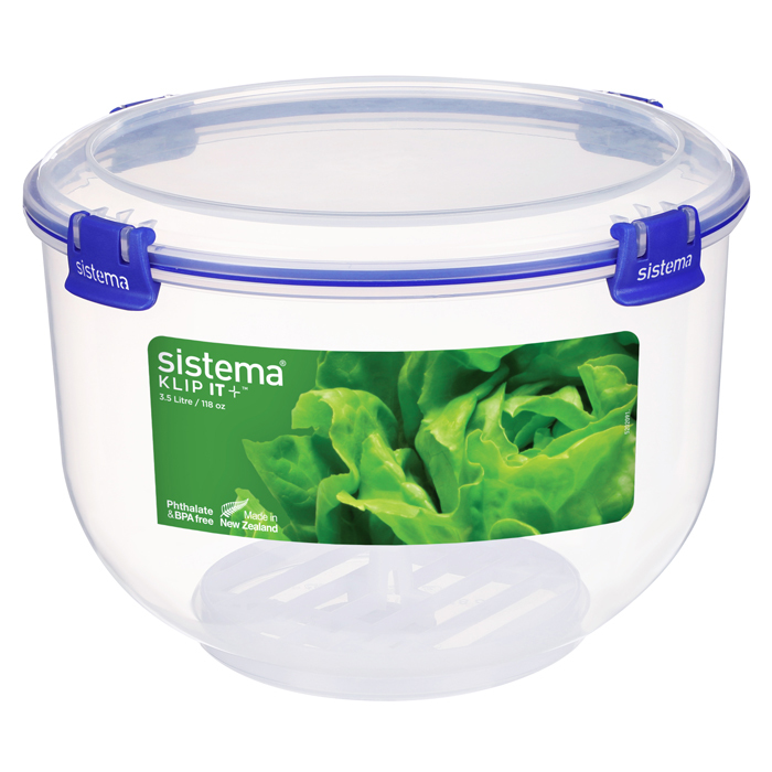 "Контейнер для хранения салата Sistema ""KLIP IT+"" 3,5 л"